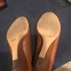 Coach Shoes - Coach Peep toe wedges
